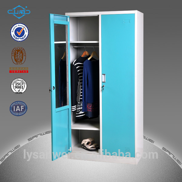 Armario Ropero Metal : Armario de almacenamiento ropero con puertas