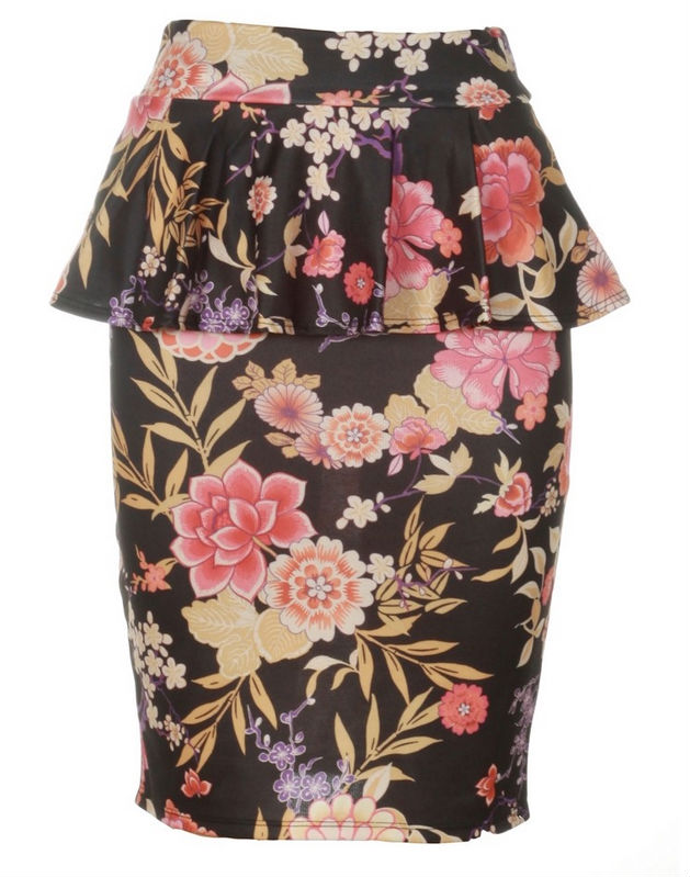 2014 Wholesale Slim Fit Polyester Office Ladies Pencil Skirt