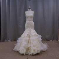Top quality ruche sash lace halter neck wedding dresses with jacket