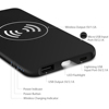 Ce Rosh Fcc Protable Qi Wireless Power Bank Charger,Qi Wireless Charger Powerbank