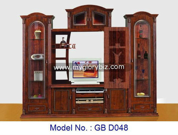 MDF TV Cabinet Wooden Furniture With Showcase For Living Room, Tv Cabinet  With Showcase,