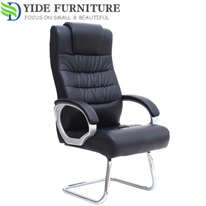 Pu Leather Height adjustable swivel office chair no wheels