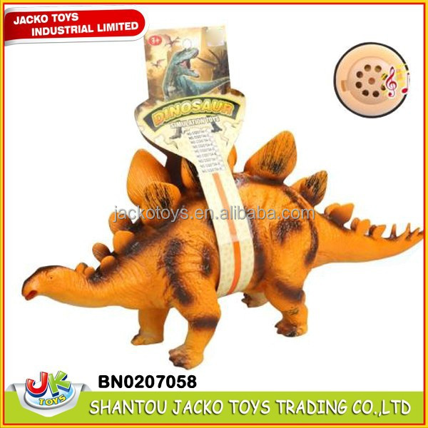 2015 Good Sale PVC Plastic Stuffed Dinosaur Toys With Sound