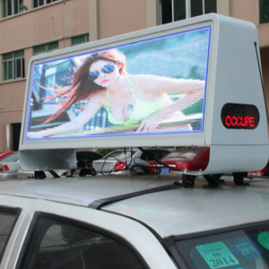 Promotion Price Outdoor Double Side P5 Full Color 3G WIFI Taxi Roof LED Sign/ Car Top Display/Taxi Light Box for sale