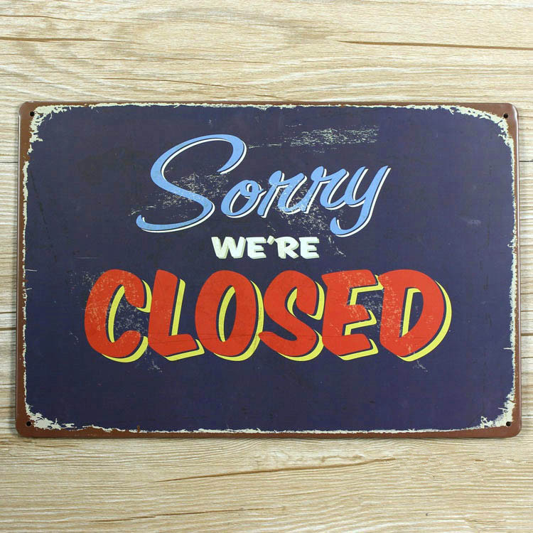 Closing Sign Promotion-Shop For Promotional Closing Sign