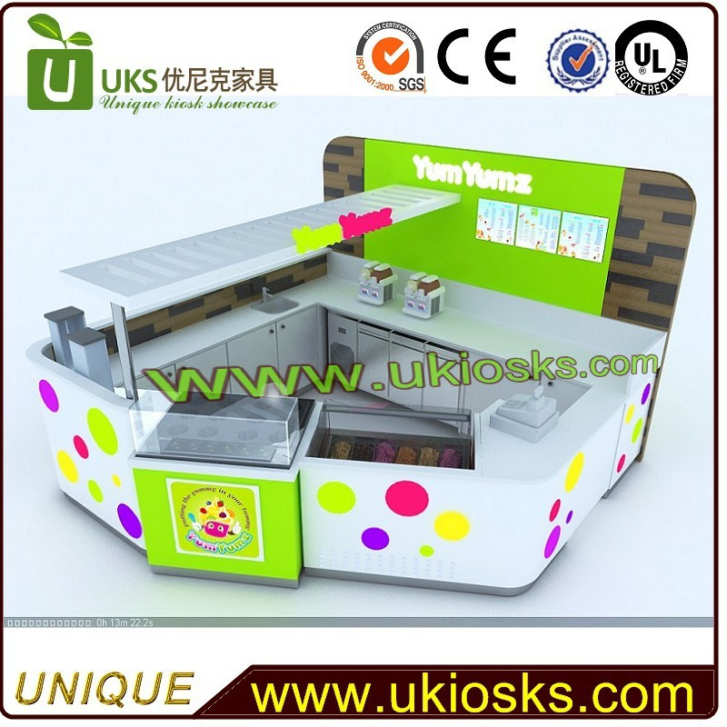 New products mall ice cream kiosk&ice cream kiosk design