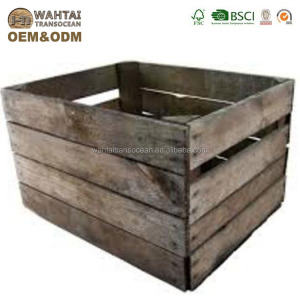 High Quality Cheap OEM Wooden Fruit Crates For Sale 2019