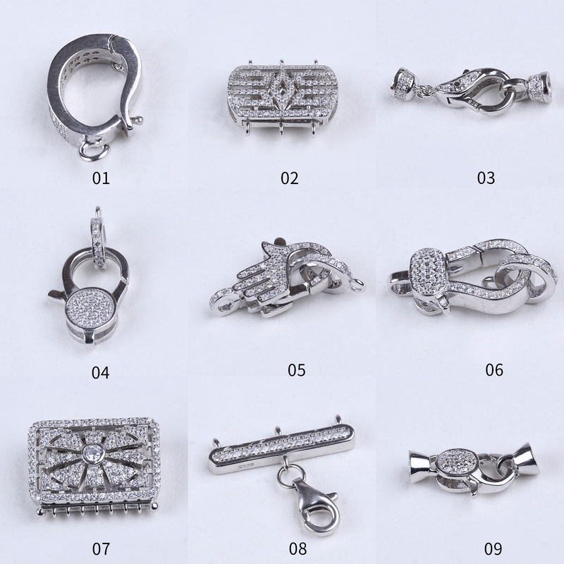 wholesale 14.5mm lobster 925 silver clasp for necklace