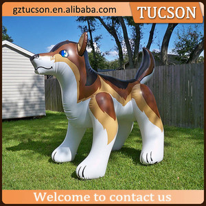 Giant inflatable wolf, inflatable pvc wolf toy for advertising