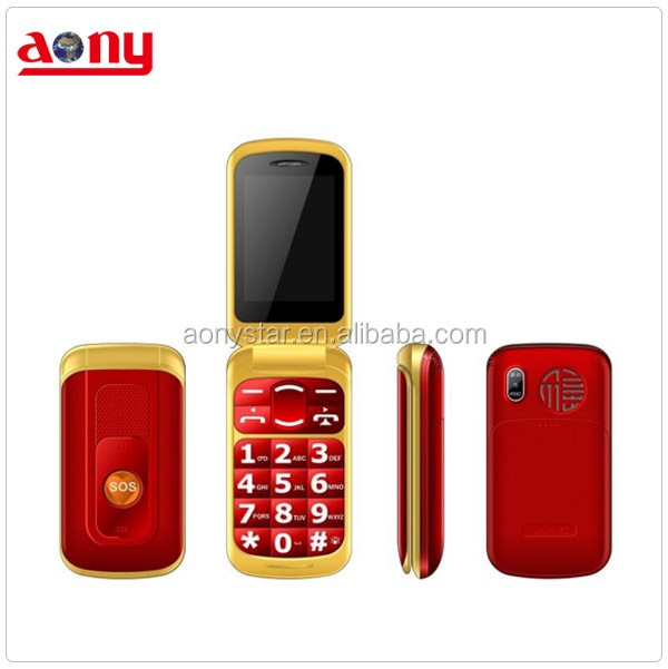 2.4inch spreadtrum senior phone big button 800mah flip mobile phone with SOS button