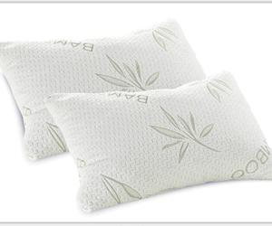 2 Pack PREMIUM Adjustable Queen Bamboo Pillow - Shredded Memory Foam - Stay Cool Removable Cover With Zipper Stay Cool Bamboo
