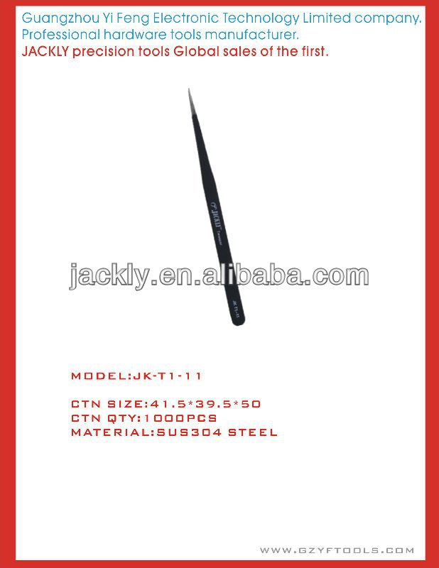 JK-T1-11,Jackly tweezers,CE Certification.