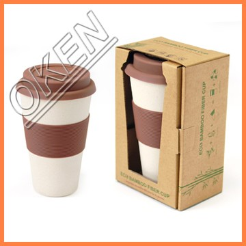 Especial design Eco friendly organic rice husk bamboo fiber coffee cup