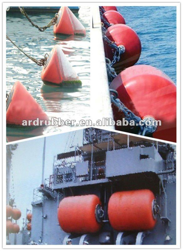 bright colors of Polyurethane floating Marine fender used for outboard,ship,boat,dock -manufacturer in China