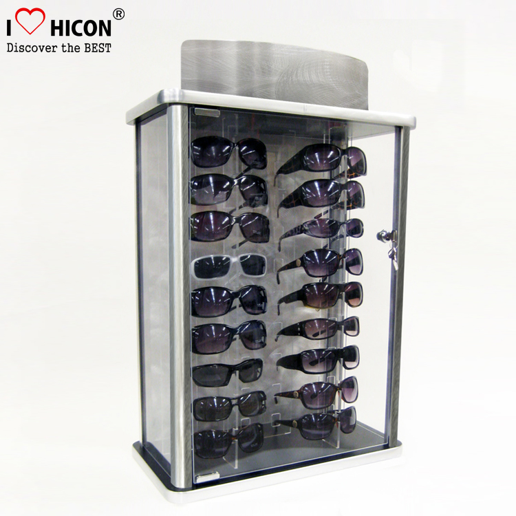 Complete Visual Solution Eyewear Shop Metal Frame Acrylic Holder Spectacles Glasses Display Stand