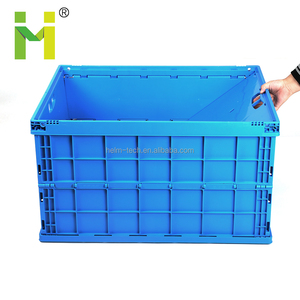 Collapsible plastic box plastic foldable crate
