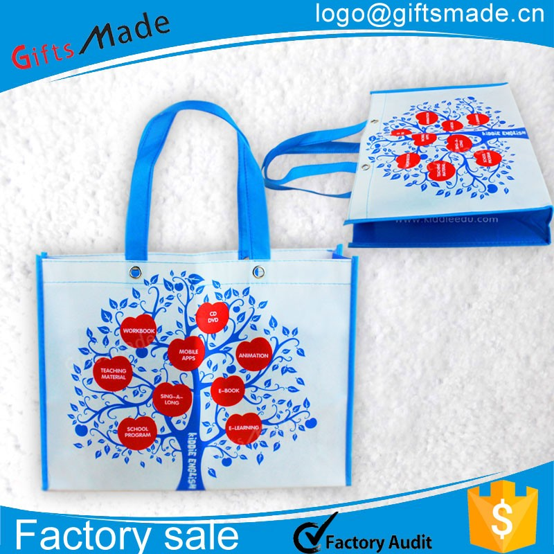 Factory price custom printing laminated pp woven shopping tote bag