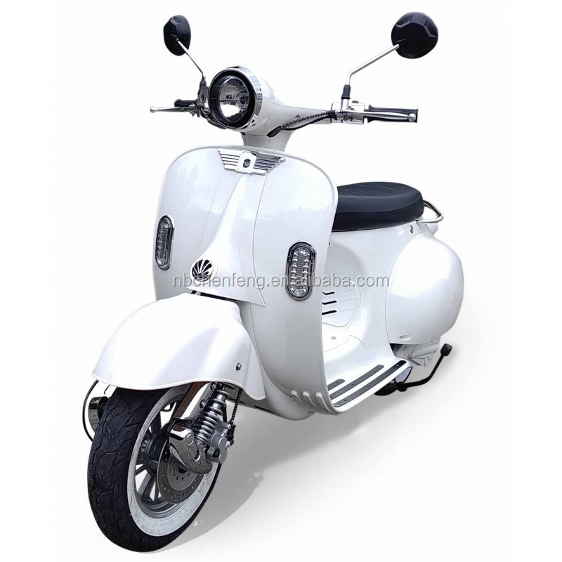 NEW E4 EEC vespa classic electric scooter with 2 pcs portable lithium battery
