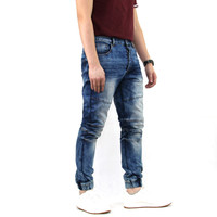 2019 High Quality Latest plus size baggy blue balloon fit casual trousers jeans for men
