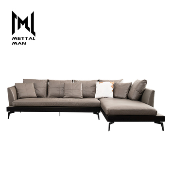 Excellent Grey Retro Leather Furniture L Shape Sofa Set Living Room Lounge Genuine Leather Corner Two Tone Corner Sectional Sofa Buy Living Room Furniture Dailytribune Chair Design For Home Dailytribuneorg