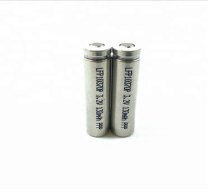 LiFePo4 IFR10370 3.2V 130mah cylindrical rechargeable e-cigarettes Li-ion battery