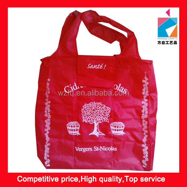 Recycle Foldable 210D Polyester Shopping Bag
