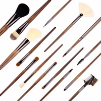 samples free selling best personalized cosmetics cheap price high quality cosmetic 15pcs makeup brush kit