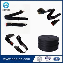 Automatic two points car seat belt webbing/Retractor three point car safety belt/simple two point car seatbelt