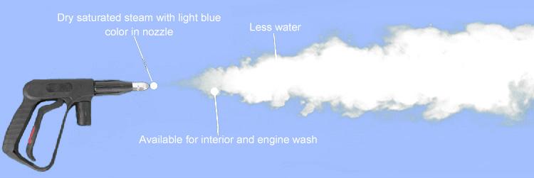 Machine de lavage de voiture électrique avec pistolet portable laveuse à vapeur aspirateur