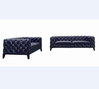 Navy Blue Leather Sofa Home Furniture Full Grain Leather Sofa - Buy Full  Grain Leather Sofa,Full Leather Sofa,Navy Blue Leather Sofa Product on ...