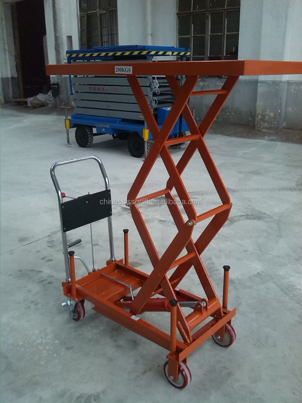 Small Hydraulic Lift Table : Portable electric truck hydraulic scissor lift table small