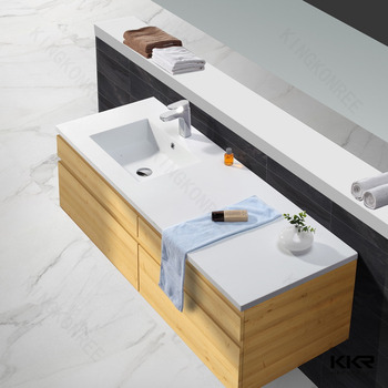 Australian Popular Resin Stone Long Narrow Bathroom Sink
