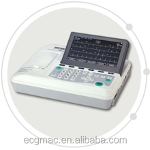 CE Approved Digital portable Three Channels ECG Machine with Alpha-numeric keyboard-7 inch color LCD-External printer