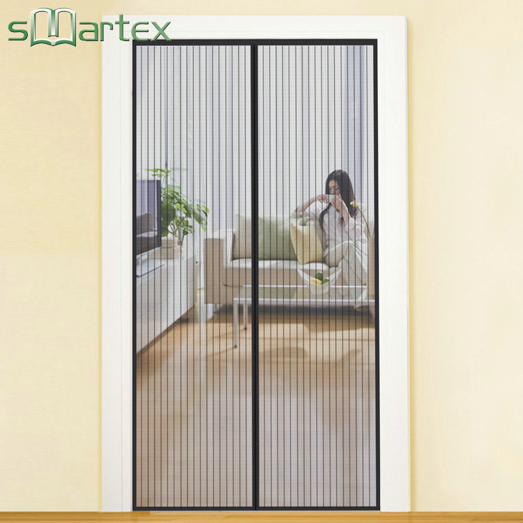 Pleated insect screen anti mosquito trade assurance magnetic screen door mosquito net