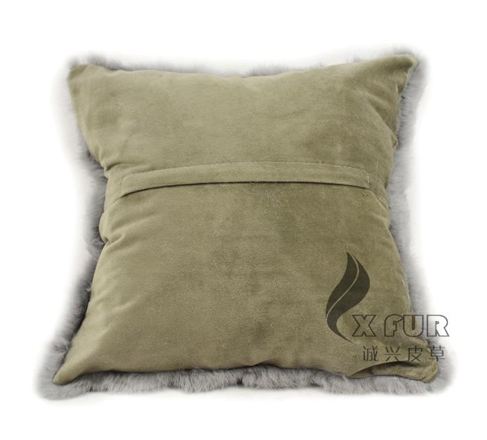 cx d 28b main mode lapin fourrure pas cher d coratif taie d 39 oreiller mat id de produit 874437836. Black Bedroom Furniture Sets. Home Design Ideas