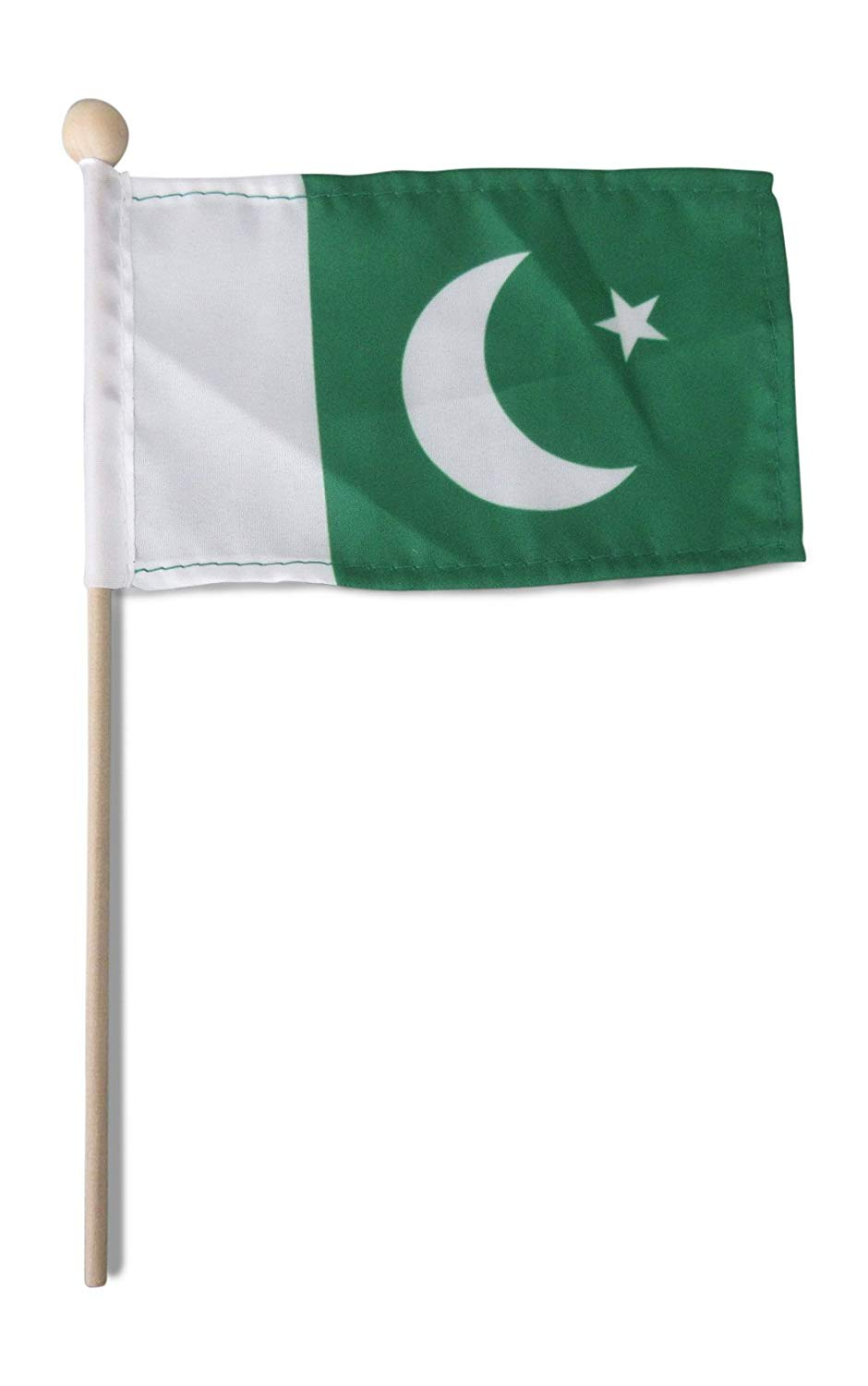 17a2a7a721 Get Quotations · Tinisa's World 10 Premium 4x6 Inch Pakistan Mini Flag  Pakistani Hand Held Stick Flags Safety Ball