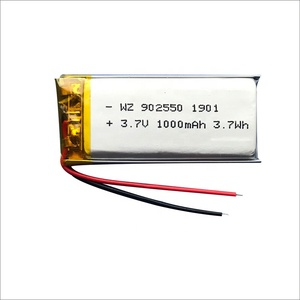 Polymer Lithium-ion Battery 3.7V 902550 1000mah Recharge Battery for Power Bank
