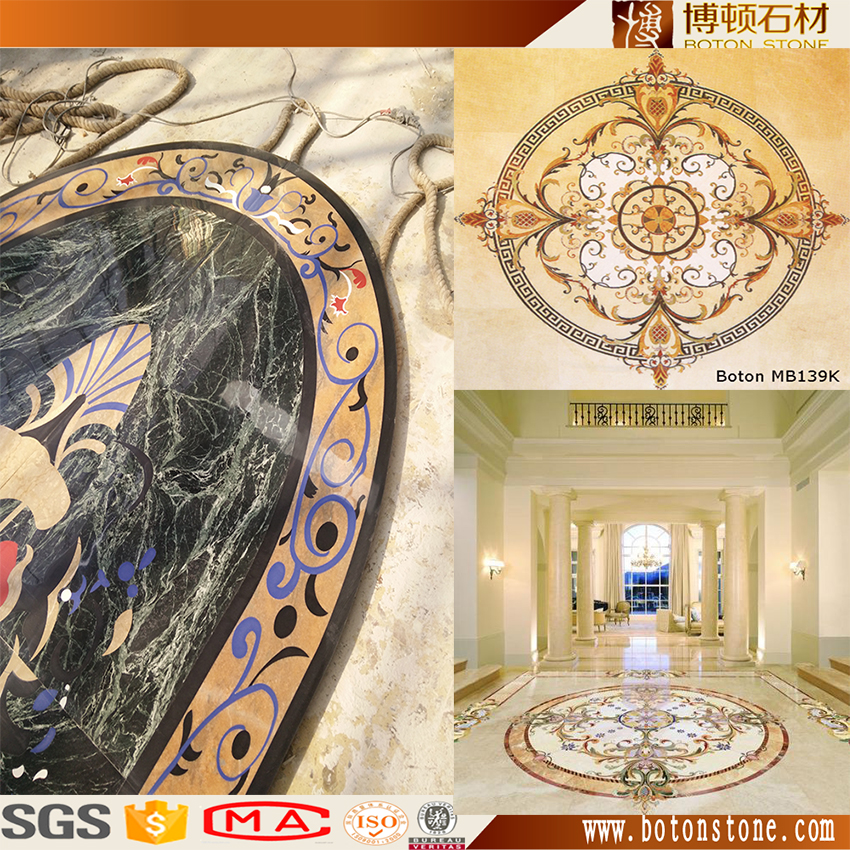 granite design for hall, round flooring marble medallion,waterjet marble tiles design floor/lobby hall use