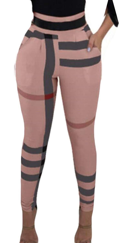 XiaoTianXin-women clothes XTX Womens Yoga Running High-Waist Pencil Contrast Stretchy Athletic Legging