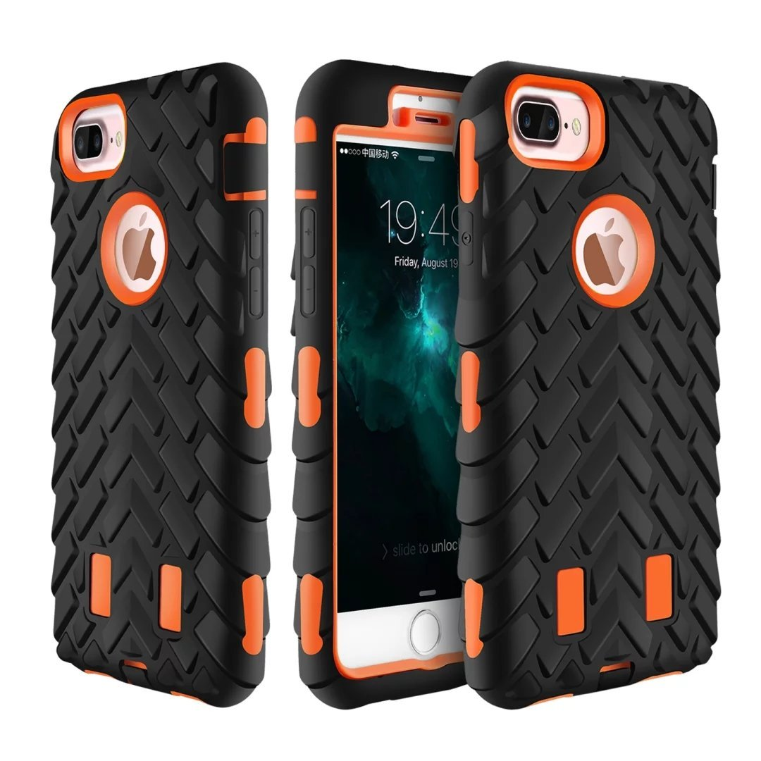 Net_Cafe Heavy Duty Shockproof Anti-Drop Cases EXTREME Shock-Absorption Hybrid Covers Protective TPU Bumper Hard PC Anti-Scratch Back Work Apple iPhone 7 Plus