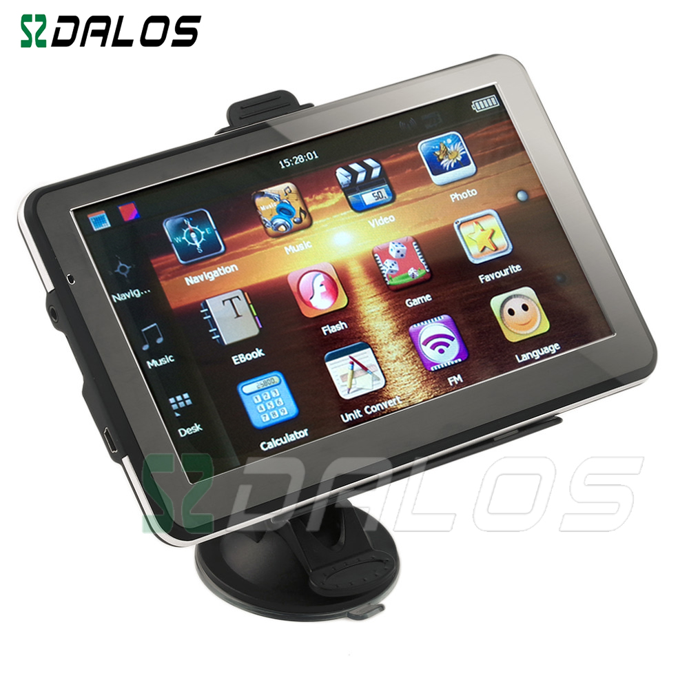 Car/Truck GPS Navigation 7inch with Bluetooth, Avin, Fm, Flash Player with Pre-loaded Maps