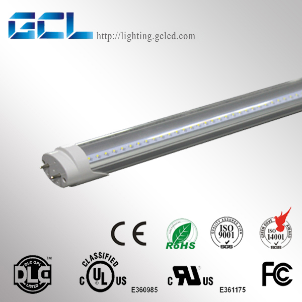 Dlc ul listed 8ft 32w led fluorescent tube lights /8ft fa8 wish single pin light