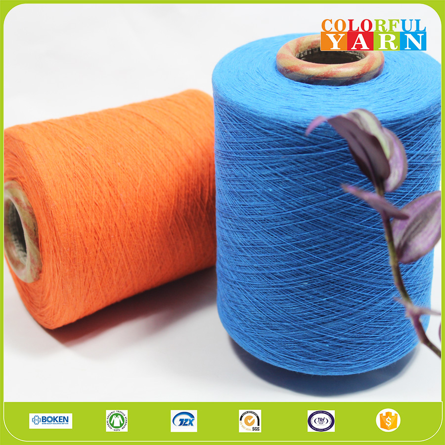 broad market cotton polyester blended recycled yarn