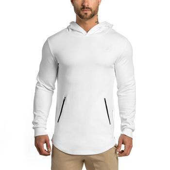 2020 95% cotton 5% spandex classical custom logo oem design pullover mens body building running gym hoodies sports fitted hoodie