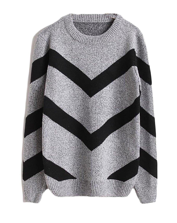 WSPLYSPJY Mens Knitted Printing Casual Slim Crewneck Slim Fit Pullover Sweaters