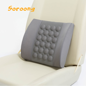 Car Seat Back Support Cushion with Massage System