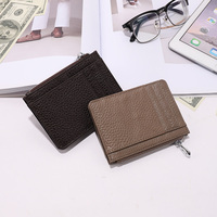 male card holder wallets man purse genuine leather high quality purse