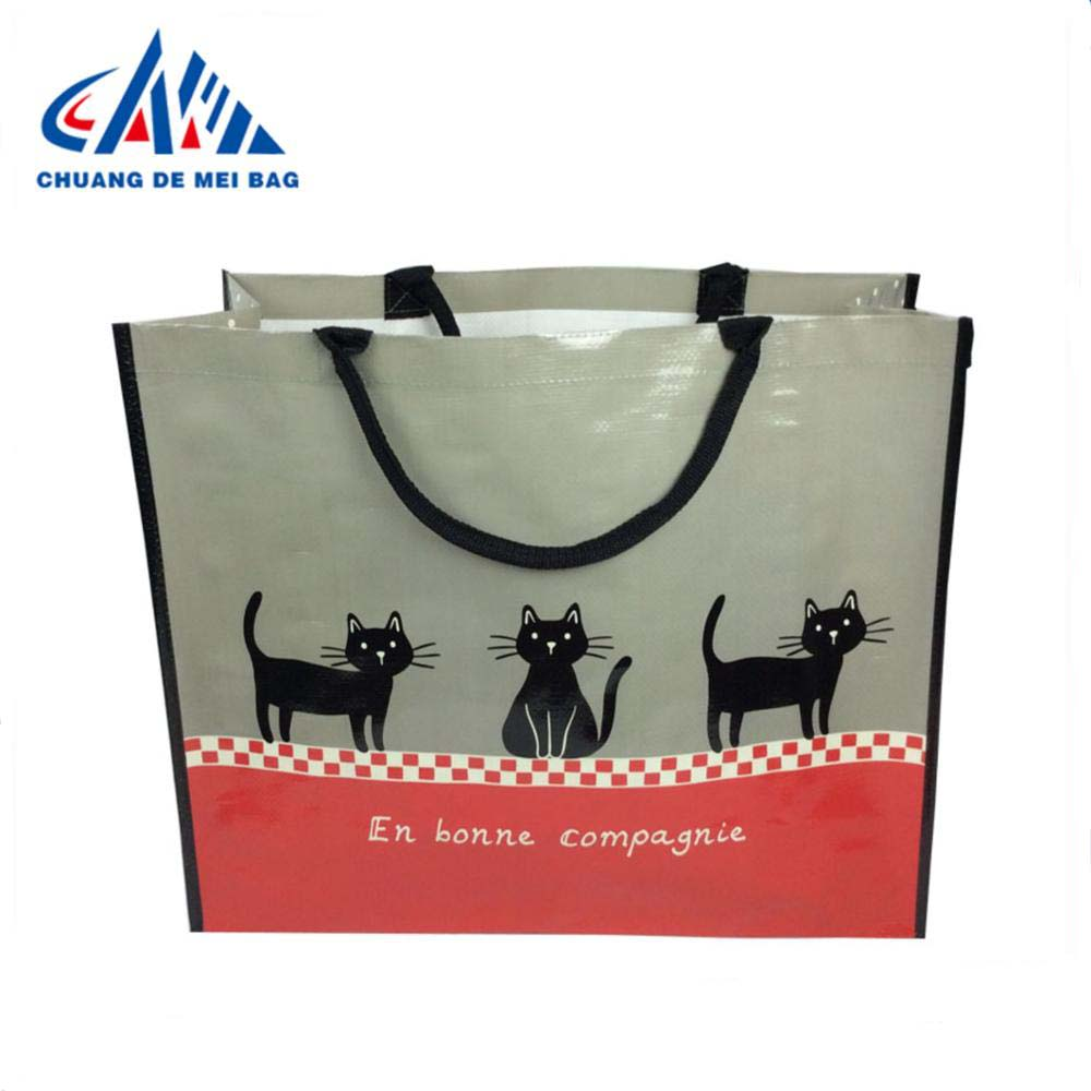 BSCI wholesale laminated non woven bag <strong>tote</strong> shopping bag for promotion and supermatket