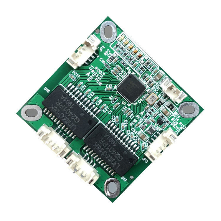 YN-S10401 38*38mm mini 4port 10/100mbps data switch ethernet pcb module for embedded system data switching