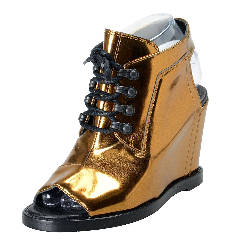 2fd1111962 Get Quotations · Maison Margiela MM6 Women's Leather Slingbacks Wedges  Sandals Shoes US 6 IT 37